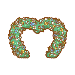 ToyBlue Heart Flower Arch.png