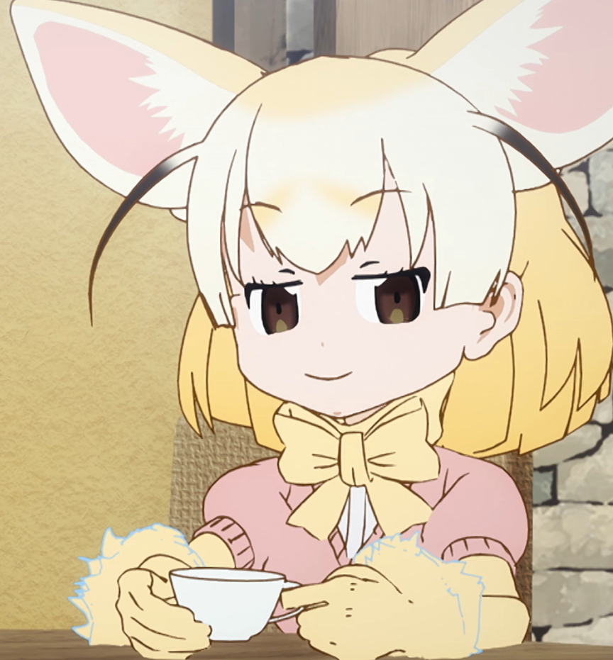 Fennec fox anime japari library the kemono friends wiki